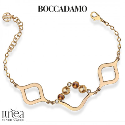 Bracciale con Swarovski crystal, copper e golden shadow