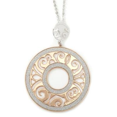 Collana in bronzo e glitter
