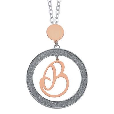 Collana con lettera B pendente piccolo
