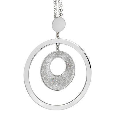 Collana con pendente concentrico e Swarovski crystal rock