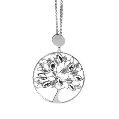 Collana con albero della vita pendente e Swarovski crystal