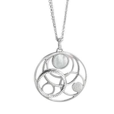 Collana con orbite in madreperla e zirconi