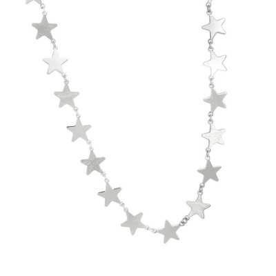 Collana rodiata con stelle