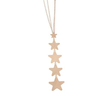 Collana scapolare rosata con ciuffetto di stelle pendenti