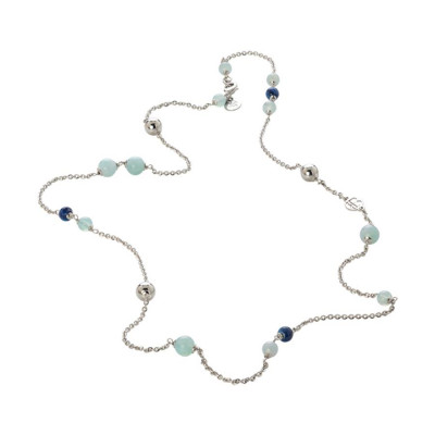 Collana con agata mix blue e celeste