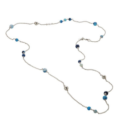 Collana con agata mix blue