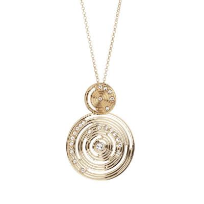 Collana placcata oro giallo con pendente di ispirazione Maya e Swarovski