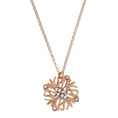 Collana con pendente corallo e Swarovski crystal
