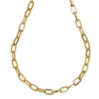 Collana placcata oro giallo a maglie rettangolari grandi