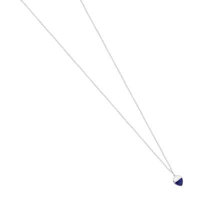 Collana lunga con pendente in cristallo color tanzanite