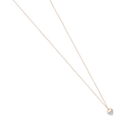 Collana lunga con pendente in cristallo color acquamarina