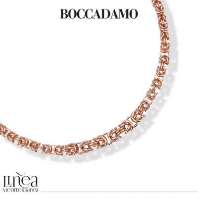 Collana in bronzo rosa catena bizantina piccola