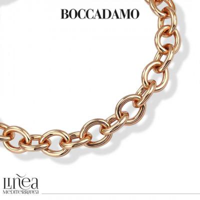 Collana forzatina media in bronzo rosa