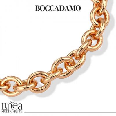 Collana forzatina grande in bronzo rosa