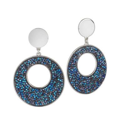 Orecchini con pendente in Swarovski crystal rock bermuda blu