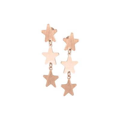 Orecchini rosati con stelle pendenti