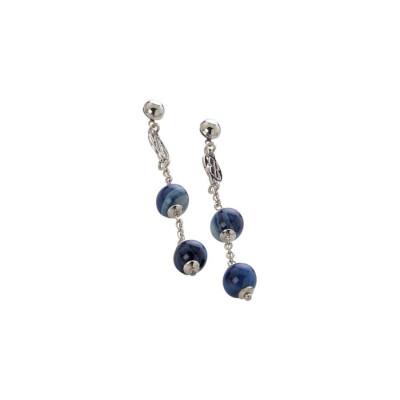 Orecchini con agata mix blue