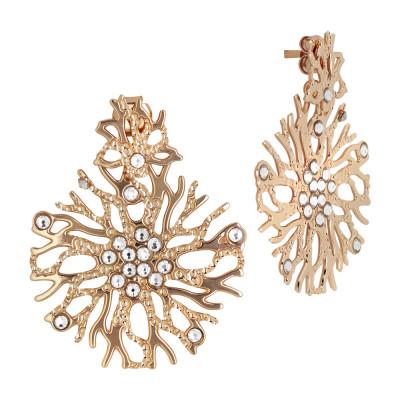 Orecchini corallo e Swarovski crystal