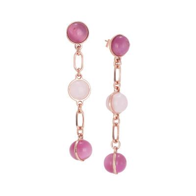 Orecchini con cabochon dalle sfumature rosa