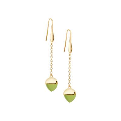 Orecchini monachella con cristallo color olivina
