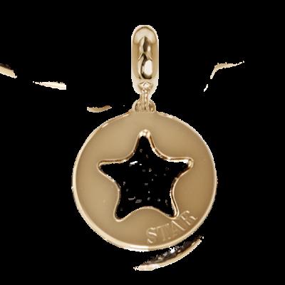 Charm dorato con profilo di stella traforato