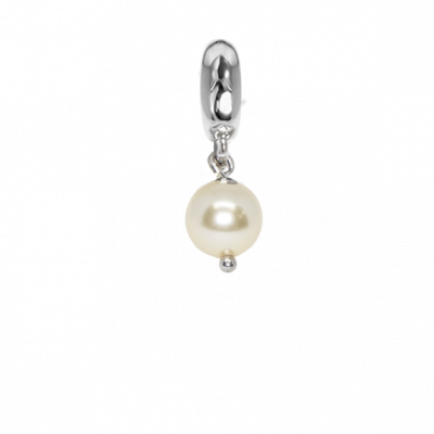 Charm con perla Swarovski light gold