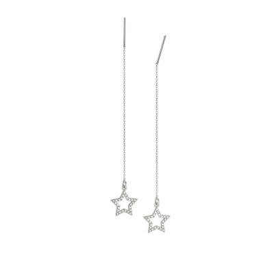 Orecchini saliscendi con stella di zirconi