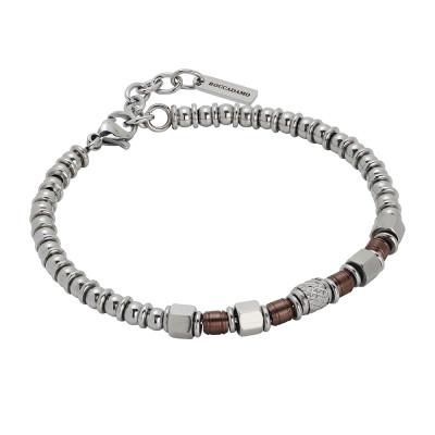Bracciale beads con pvd marrone