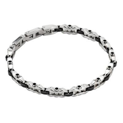 Bracciale modulare in acciaio e pvd nero