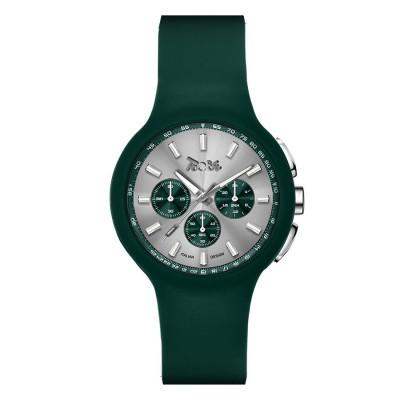 Orologio in silicone anallergico verde e contatori verdi