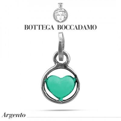 Charm cuore verde