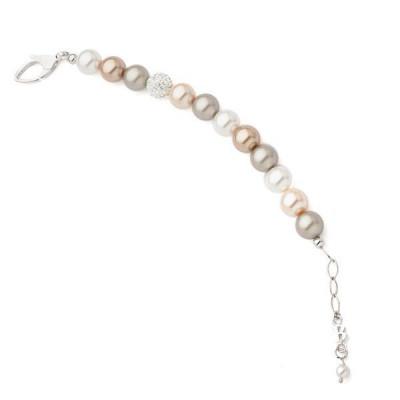Bracciale in argento e perle Swarovski