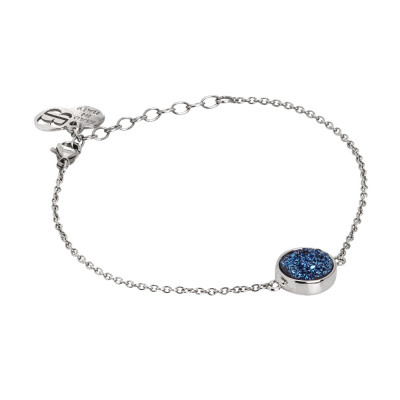 Bracciale con druzy stone blu