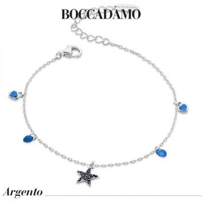 Bracciale con stella di zirconi blu