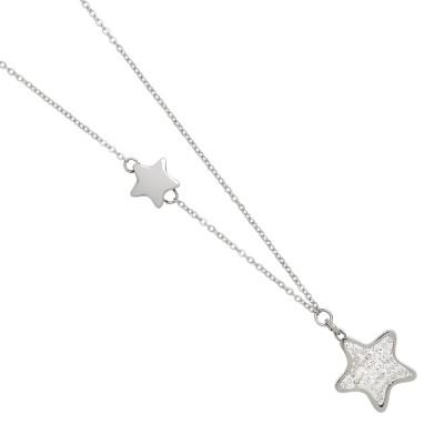 Collana con stella di glitter