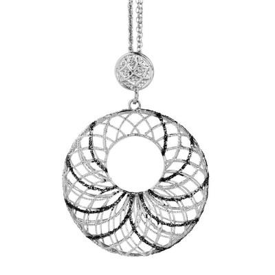Collana in argento con pendente circolare