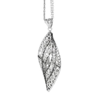 Collana in argento con pendente a spirale