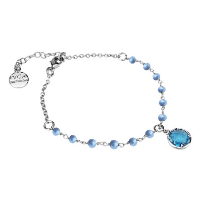 Bracciale con cristalli celesti e cristallo sky