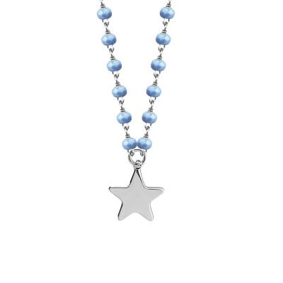 Collana con cristalli celesti e stella