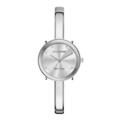 Orologio solo tempo donna silver con indici in Swarovski