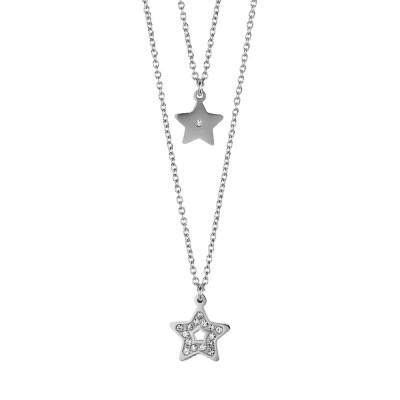 Collana doppio filo degradè con stelle