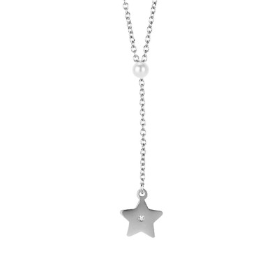 Collana con perla Swarovski e stella pendente