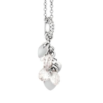 Collana in argento con charms e zirconi
