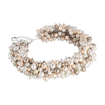 """Collana corta con composizione di perle e cristalli Swarovski ispirazione """"Estate"""""""
