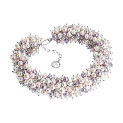 """Collana corta con composizione di perle e cristalli Swarovski ispirazione """"Primavera"""""""