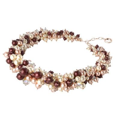 """Collana con composizione di perle e cristalli Swarovski ispirazione """"Autunno"""""""