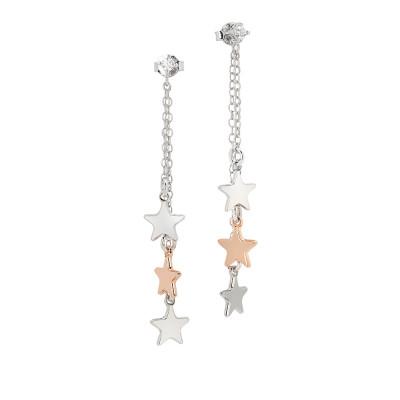 Orecchini con pendente a ciuffetto di stelle