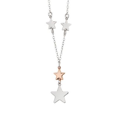 Collana con pendente di stelle bicolor