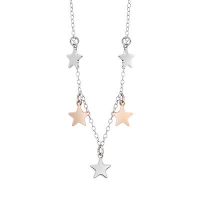 Collana con charms a forma di stelle