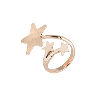 Anello contrariè rosato con stelle